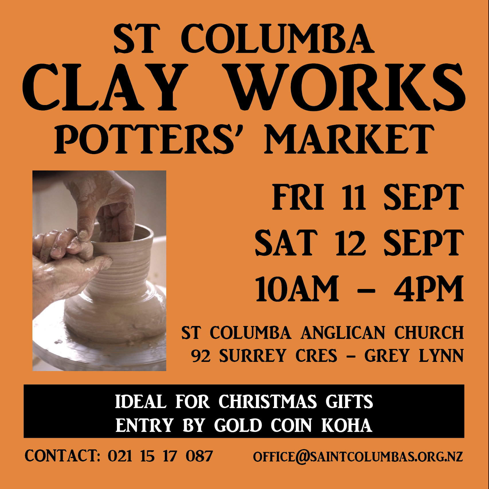 Clay Works Potters' Market 2020 – postponed to 30/31 October 2020 due to Covid-19